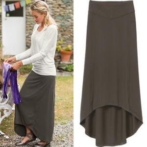 Athleta | Gray Thrones Hi Lo Maxi Skirt Pull On L